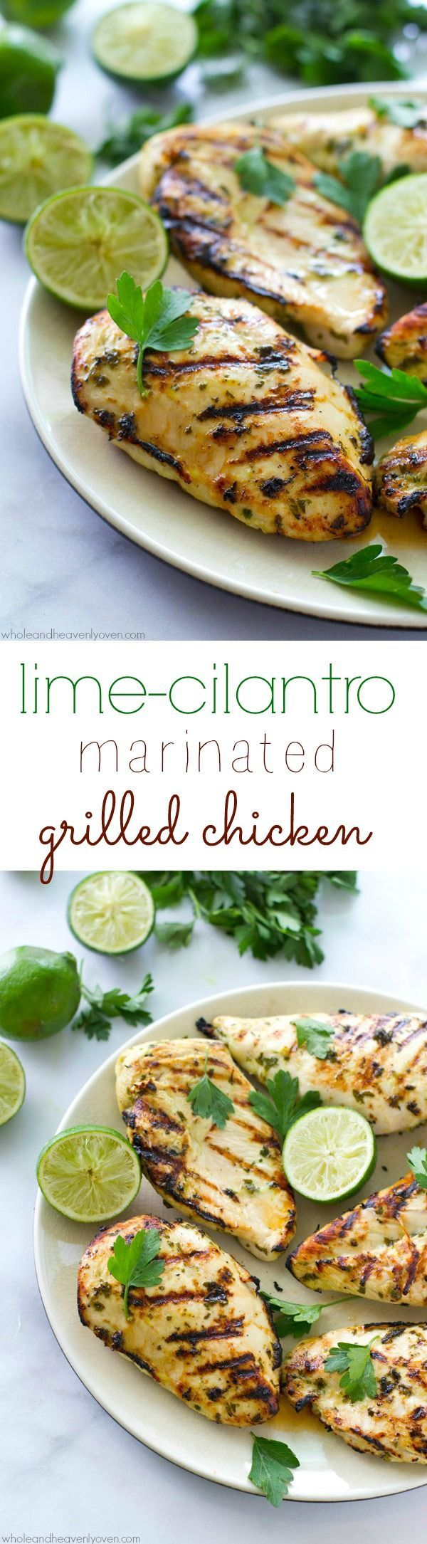 Marinated for hours in a flavorful lime cilantro marinade and then thrown onto the grill, this extra-juicy chicken delivers a punch of irresistible summer flavors!