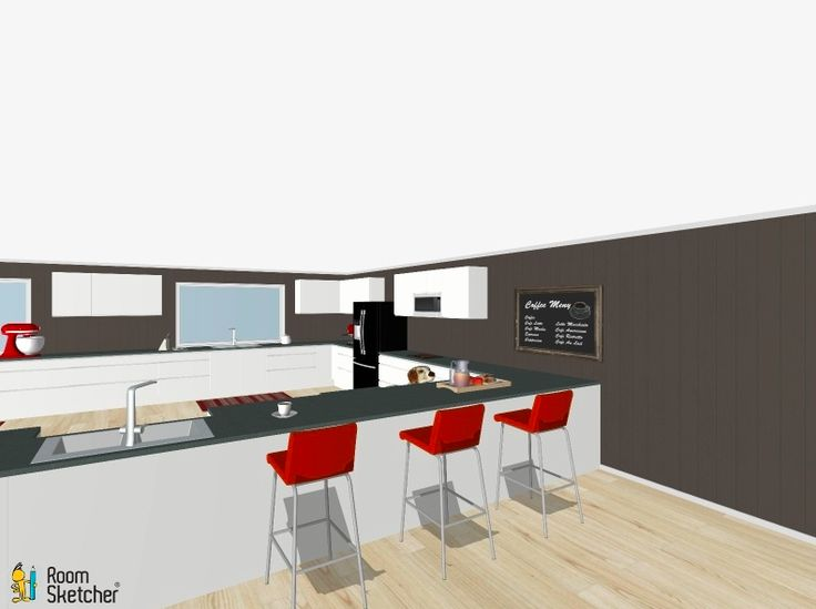 simple view from another angle of the kitchen, focusing on the island