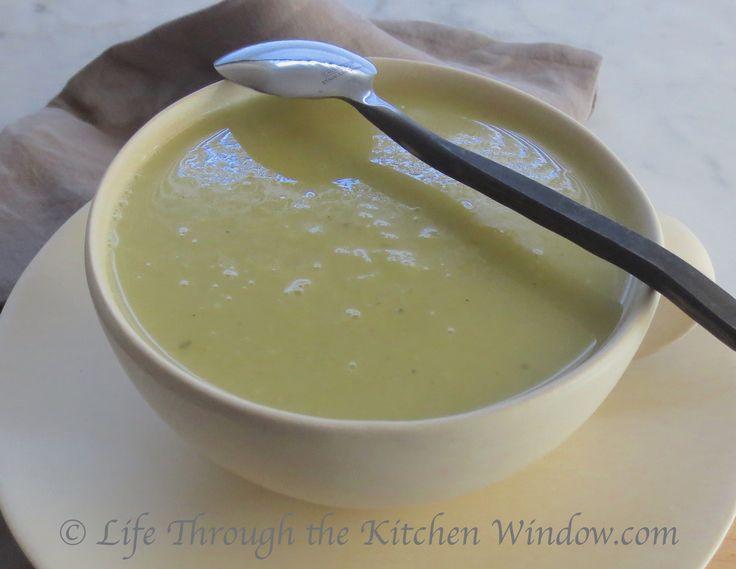 Creamy Leek & Potato Soup   © Life Through the Kitchen Window.com