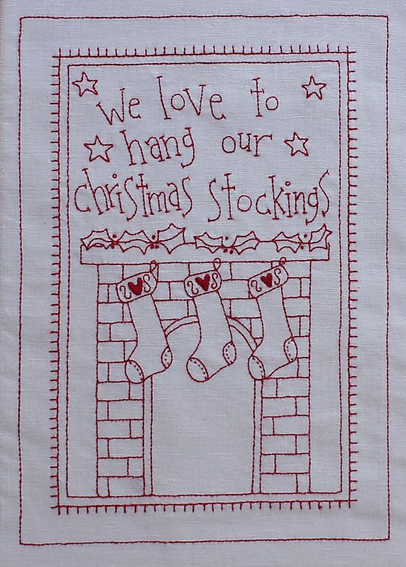 Christmas stockings from It´s a Redwork Christmas on Rosalie Quinlan Designs