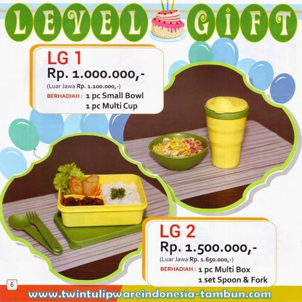 Level Gift Twin #Tulipware   Mei - Juni 2014