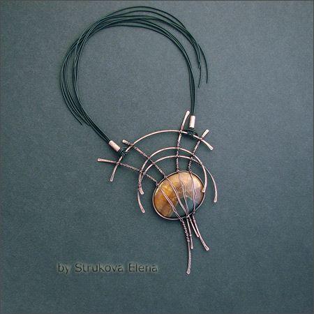 Strukova Elena - авторские украшения - Штука на шею с симбирцитом