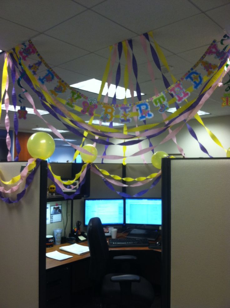 Beautiful Decorated My Coworkers Desk For Her 30th Birthday  Iimgurcom