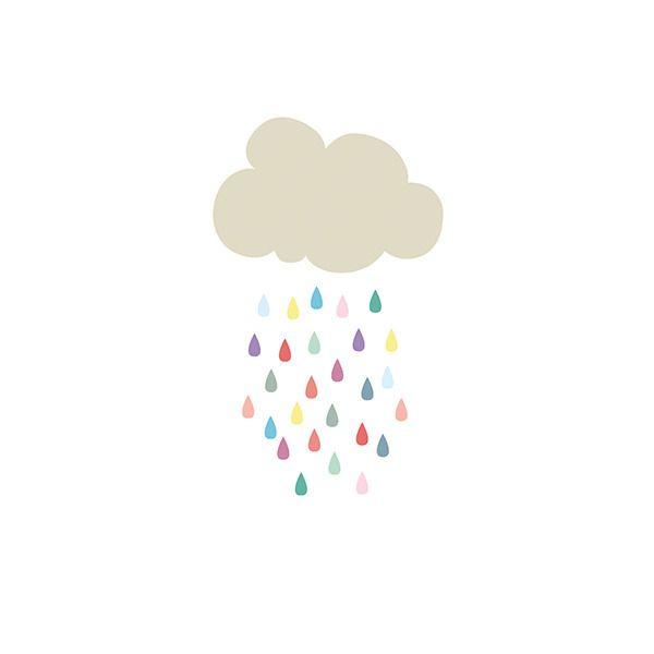 Illustration rétro nuage pour enfant : Décoration pour enfants par retroboutique
