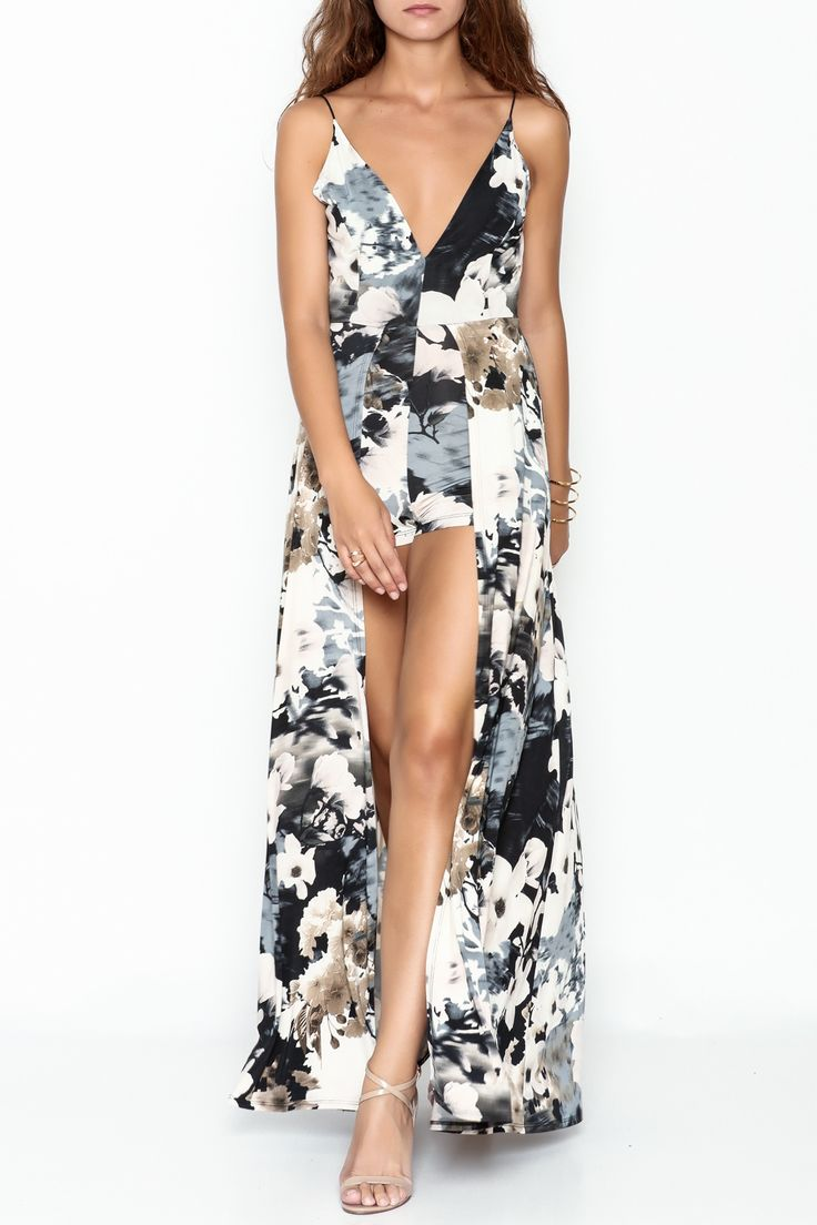 Lovely Day Floral Maxi Romper - Main Image