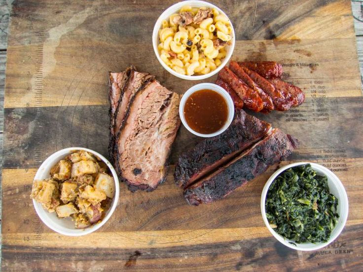 Brisket, ribs, sausage and side dishes at Brooks' Place BBQ.