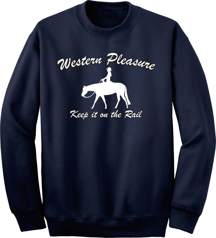 Western Pleasure Keep it on the Rail Horse Navy Sweatshirt