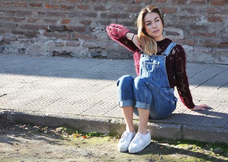 #lapetiteduchesse #overalls #90s #style #fashion #denim #knit #santiago #chile #superga #hm #topshop #topshopchile #angora #wool
