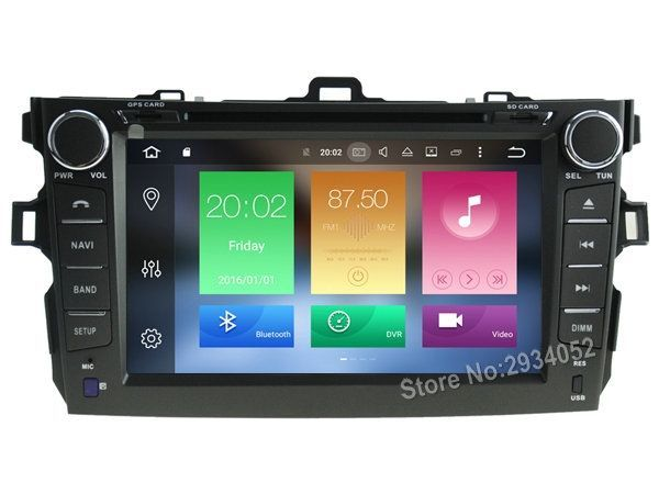 Awesome Ram car 2017 - 349.28$  Buy here - FOR TOYOTA COROLLA 2007-2012 Android 6.0 Car DVD player Octa... Check more at http://24car.ga/my-desires/ram-car-2017-349-28-buy-here-for-toyota-corolla-2007-2012-android-6-0-car-dvd-player-octa/