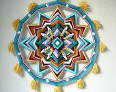 Mandala de Ojo de Dios, pregunto silenciosa, 24 pulgadas 12 caras, por orden de encargo