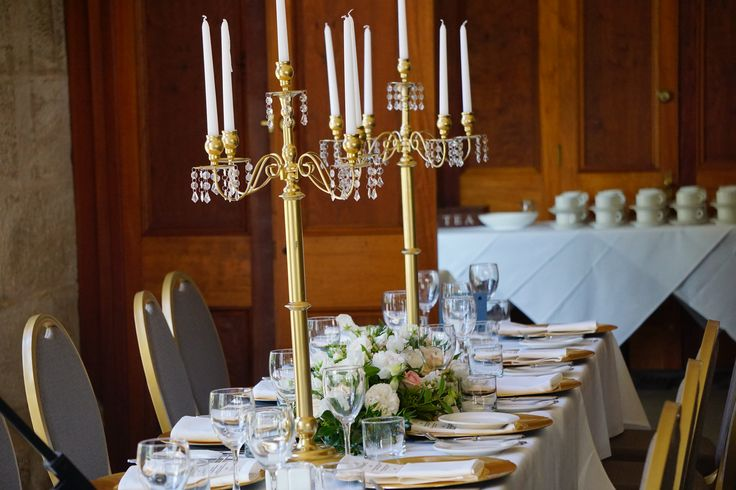 Stunning Gold Candleabras -  by Toowoomba White Wedding and Event Hire, Weddings, Parties, Corporate Functions {Toowoomba, Surrounding Areas}