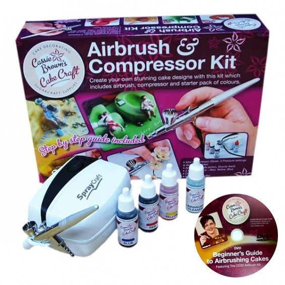 Cake Decorating Airbrush Kit With Compressor Colours Cleaner And Dvd : 37 best Air Brushed Cakes images on Pinterest Airbrush ...