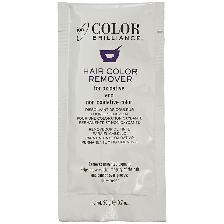 ion Color Brilliance Hair Color Remover removes unwanted pigments while preserving the integrity of the hair.