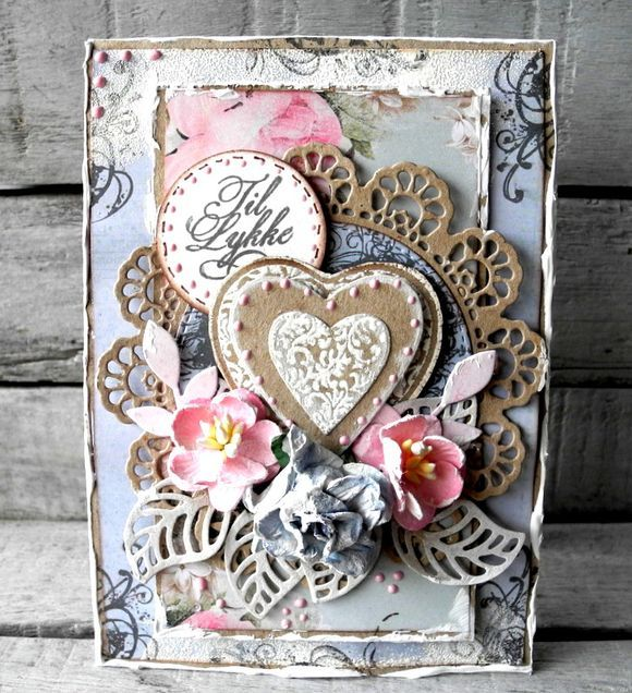 Stempelglede :: Grunge Florish Hearts - Pia Baunsgaard
