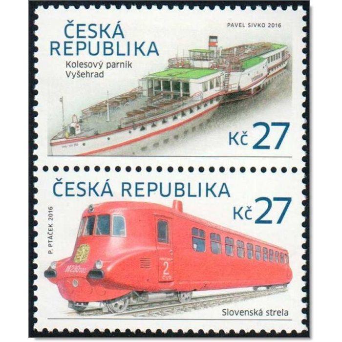 Historische Verkehrsmittel - 2 Briefmarken postfrisch, Tschechische Republik
