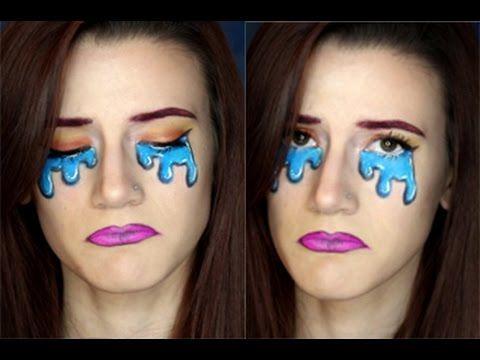 Crying Face Cartoon Comic Makeup Tutorial
