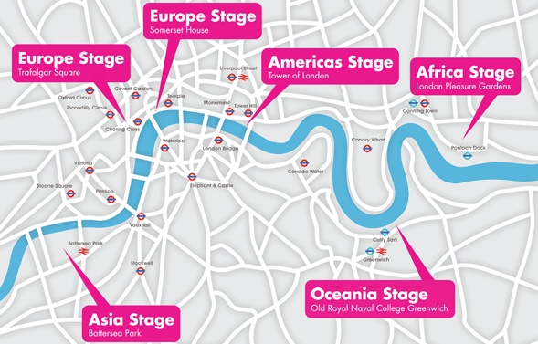 River Of Music : on Saturday 21 and Sunday 22 July for a once-in a lifetime weekend festival of music welcoming you to London the weekend before the opening ceremony of  the London 2012 Olympic Games.