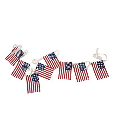 Small American Flag Garland #zulily #zulilyfinds