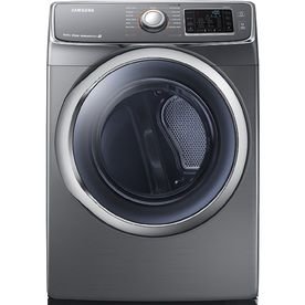 samsung 75cu ft stackable electric dryer with steam cycles platinum