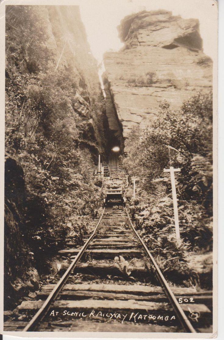 At Scenic Railway, Katoomba, NSW, Australia. (Photo undated) possible ca. 1900's. v@e.