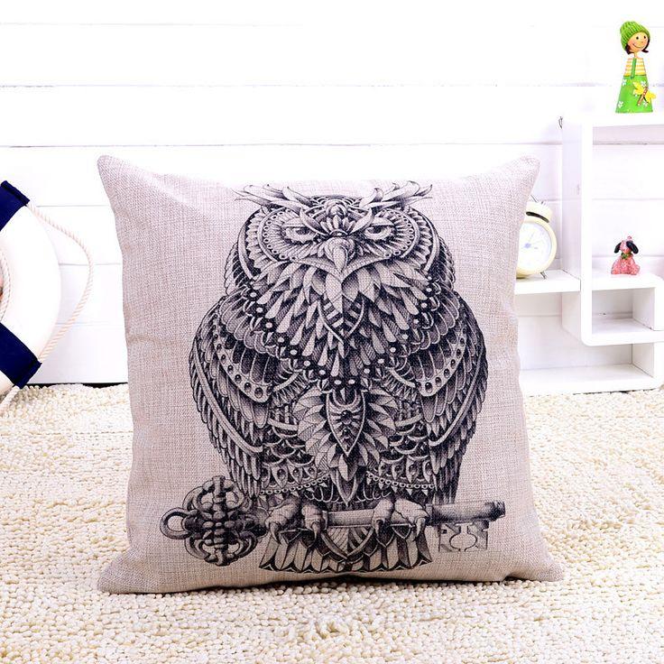 africanartonline.com - Giant  Eagle Owl Cushion Cover, $24.95 FREE Shipping (http://africanartonline.com/giant-eagle-owl-cushion-cover/)