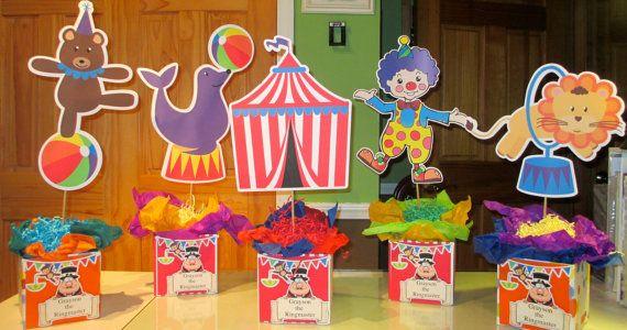 Circus theme Centerpieces