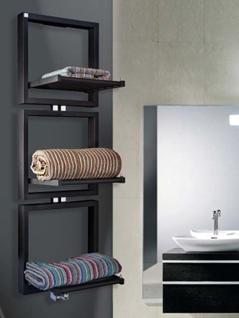 luxus radiátor, fürdőszobai design radiátor, polcos radiátor