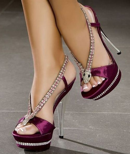 There is 0 tip to buy : shoes purple snake diamanté high heels fashion heels  cute.