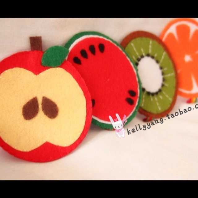 Fruity Felt coasters