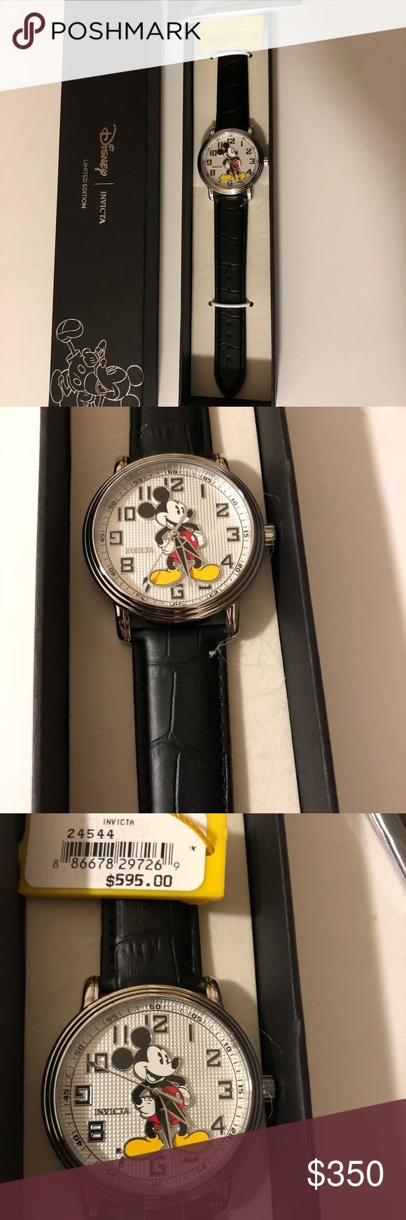 New Men's Invicta Limited Edition Watch New Men's Invicta Limited Edition Disney Watch. Leather Band. Orig. $595 Invicta Accessories Watches