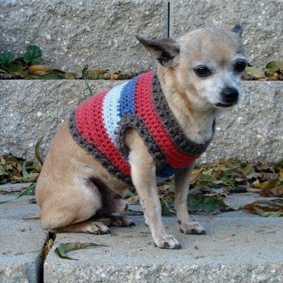 Crochet Pattern Small Dog Sweater Chihuahua Style