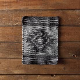 Free #crochet pattern from knitpicks.com. Made in comfy worsted-one of my favorite yarns. Aztec Crochet Dishcloth