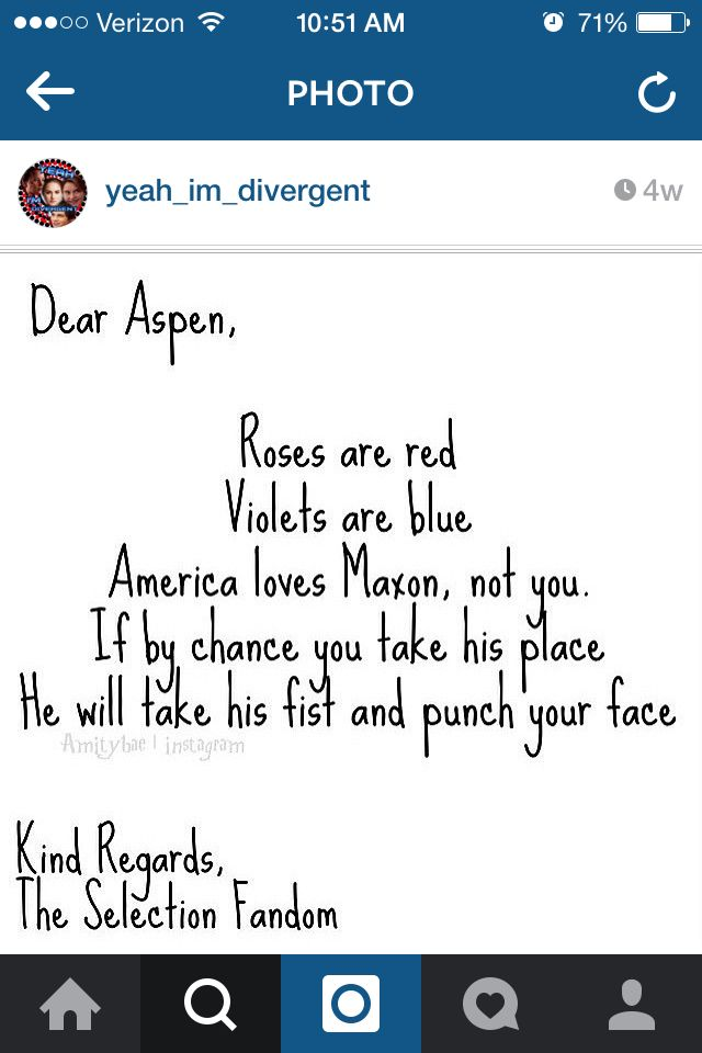 I like Aspen but not enough for him to marry America #TeamMaxon