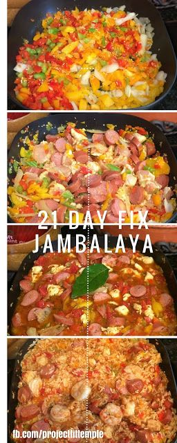 If you like Jambalaya then this is the recipe for you! Very flavorful and full of spice! :) 21 Day FIX CHICKEN, SAUSAGE AND SHRIMP JAMBALAYA #21dayfix #mealprep