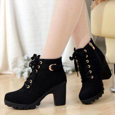 Sepatu Boots Heels Wanita