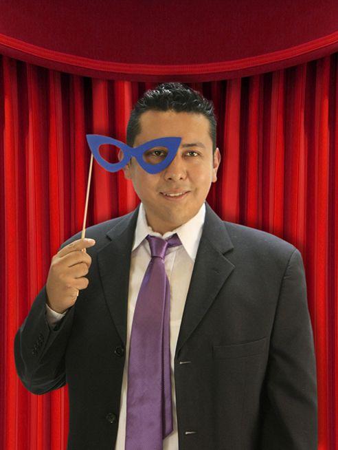 Accesorios para fiesta de graduación / Photobooth / Pick de Lentes Azul /