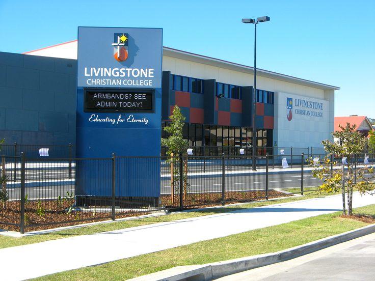 Livingston Christian College #CSI #CorporateSignIndustries #200 #series #custom #Design #signage #LED school #recognition #identity #sign