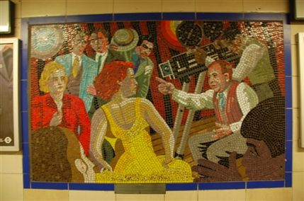 Top 10 Things To Do In The Borough Of Waltham Forest: Hitchcock mosaic at Leytonstone Station