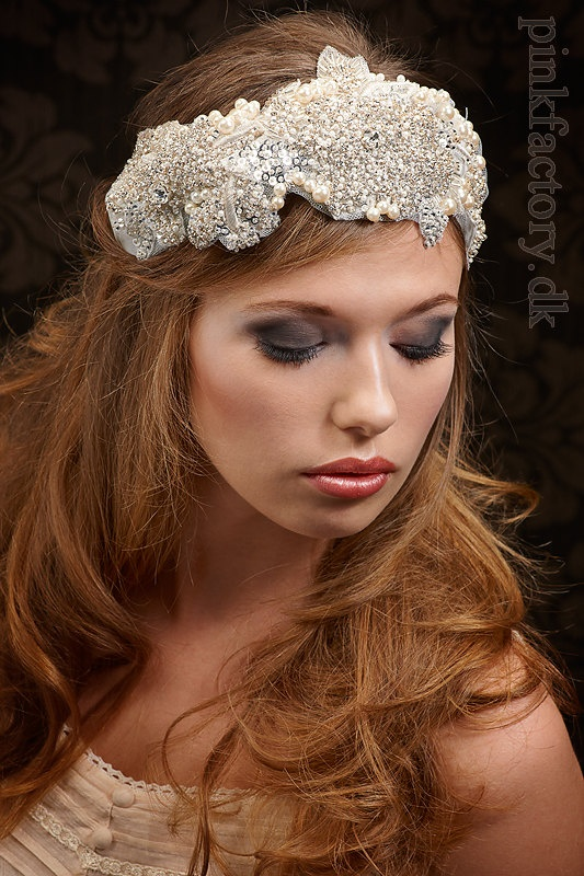 Bohemian bridal look, with lots of sparkle
