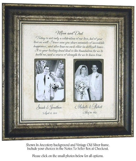 Mom And Dad, Today Is A Celebration, Personalized Picture Frame, Important Dates, Wedding Gift, Engagement, Bridal Shower Gift, 16 X 16