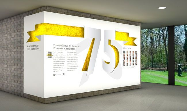 Kroller-Muller Museum brand identity, eye-catching #wallgraphic display: