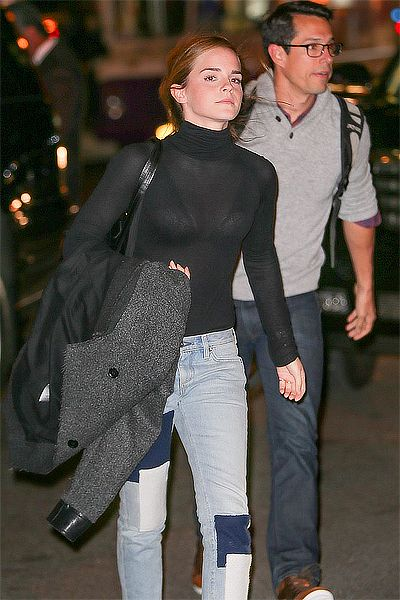 Emma Watson spotted in New York City on October 30, 2015