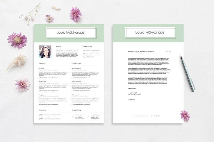 Laura | CVpohja.fi    Laura-pohja sisältää myös yhteensopivan työhakemuspohjan.
