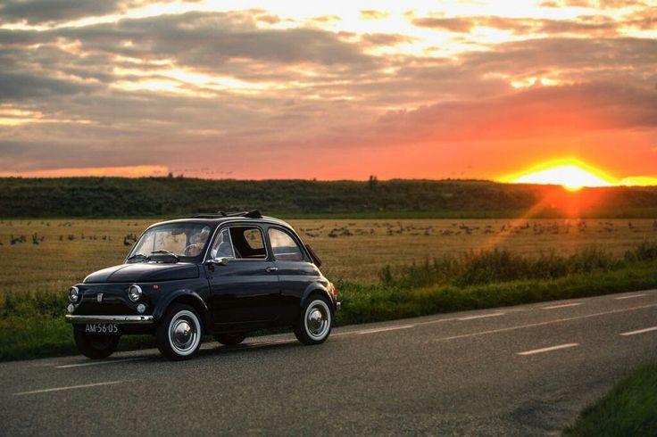 Sunset fiat 500 classic