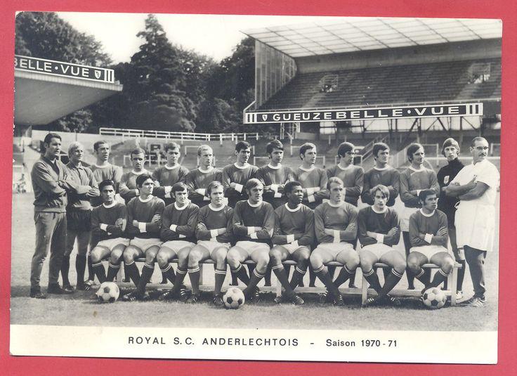 Carte Postale Royal S C Anderlechtois Saison 1970 71 Gueuze Belle VUE | eBay