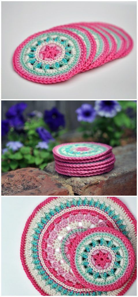 Free Crochet Coaster Patterns For Your Home Crocheted Pattern