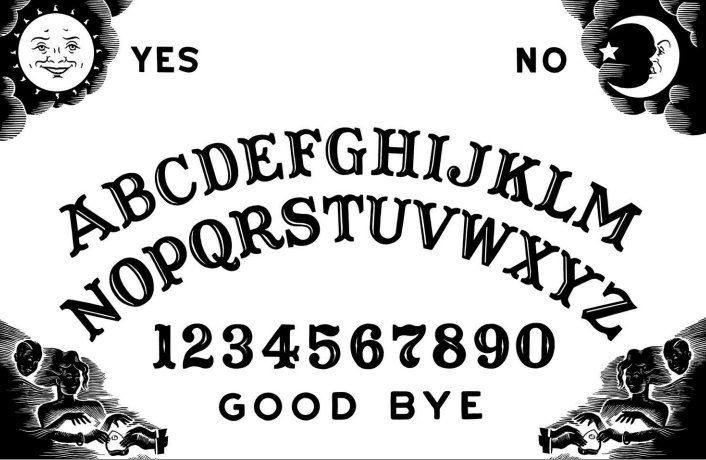 DIY High Resolution Ouija Board Printable from Country Living. If you read truebluemeandyou, you know how to age paper with coffee, tea or watered down paint. Here's an easy Ouija Board Necklace DIY from Cut Out + Keep here. Don't want to DIY? Check...