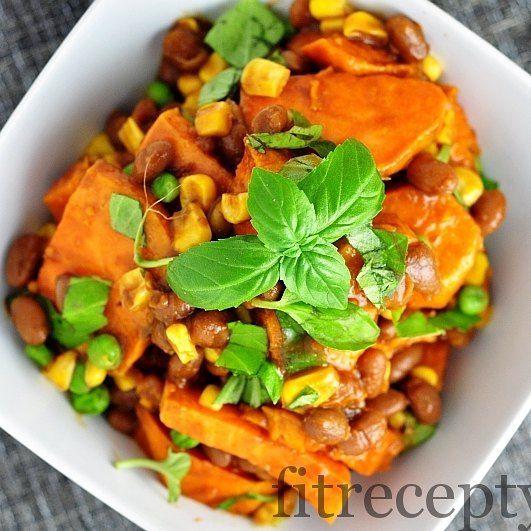 Vynikajuci salat zo sladkych zemiakov a fazule vychutnajte si hohellip