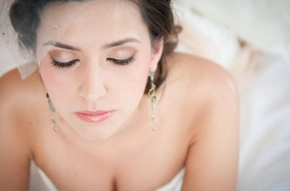 Champaign, shimmer, romantic wedding makeup!    Hair and Makeup by KyleLynn Weddings.  Photo by Jessica Leigh.