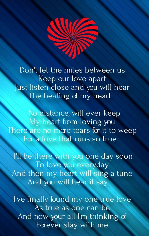 long distance love poems for him from the heart | Love ...